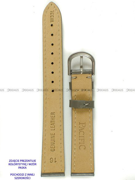 Pasek skórzany do zegarka - Pacific W33L.18.6.6 - 18 mm