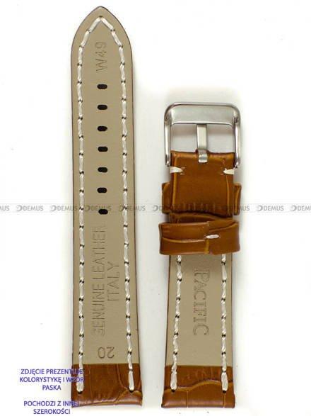 Pasek skórzany do zegarka - Pacific W49.22.3.7 - 22 mm
