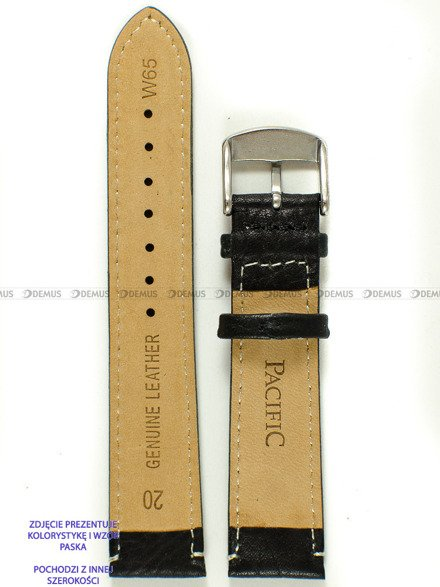 Pasek skórzany do zegarka - Pacific W65.22.1.7 - 22 mm