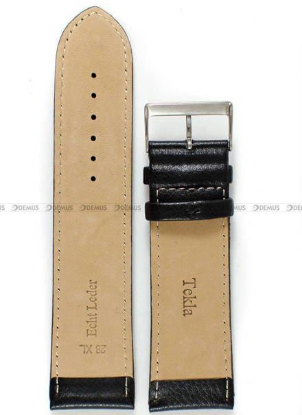 Pasek skórzany do zegarka - Tekla PT44.28.1.1.XL - 28 mm