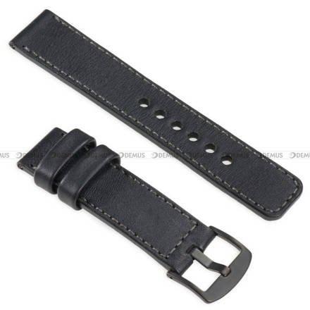 Pasek skórzany do zegarka lub smartwatcha - moVear WQU0C01GP00BKMM18BK - 18 mm