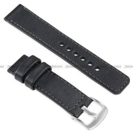 Pasek skórzany do zegarka lub smartwatcha - moVear WQU0C01GP00SLBM24BK - 24 mm