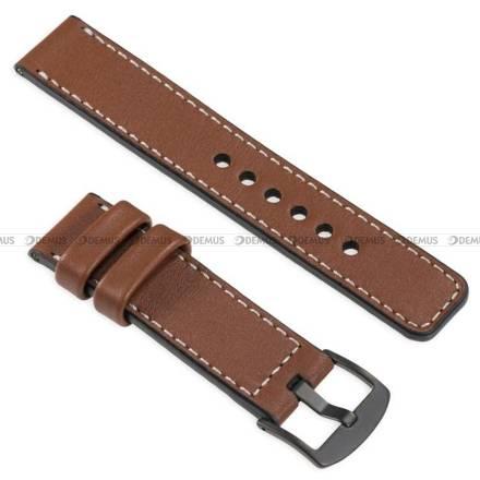 Pasek skórzany do zegarka lub smartwatcha - moVear WQU0C01SL00BKMM20B2 - 20 mm