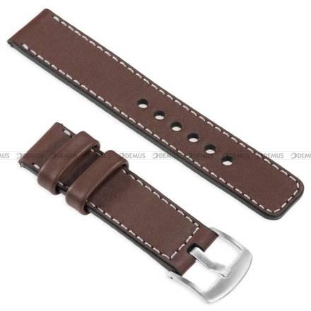 Pasek skórzany do zegarka lub smartwatcha - moVear WQU0C01SL00SLBM18B1 - 18 mm