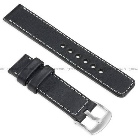 Pasek skórzany do zegarka lub smartwatcha - moVear WQU0C01SL00SLBM24BK - 24 mm
