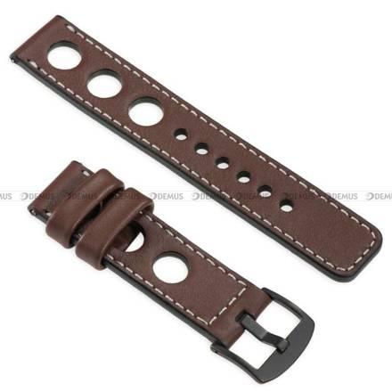 Pasek skórzany do zegarka lub smartwatcha - moVear WQU0R01SL00BKMM18B1 - 18 mm