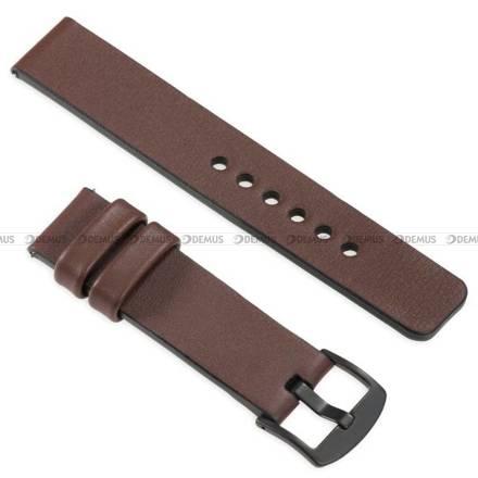 Pasek skórzany do zegarka lub smartwatcha - moVear WQU0S010000BKMM18B1 - 18 mm