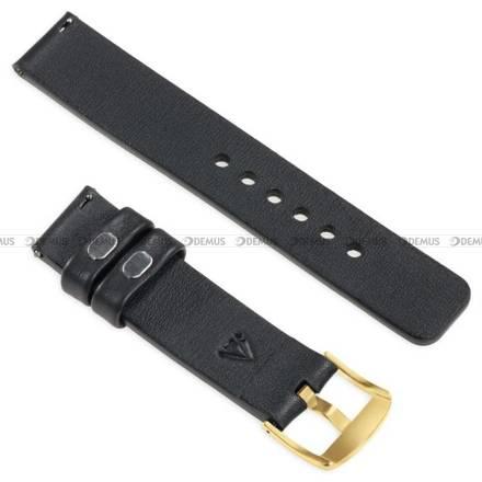 Pasek skórzany do zegarka lub smartwatcha - moVear WQU0S010000GDPM20BK - 20 mm