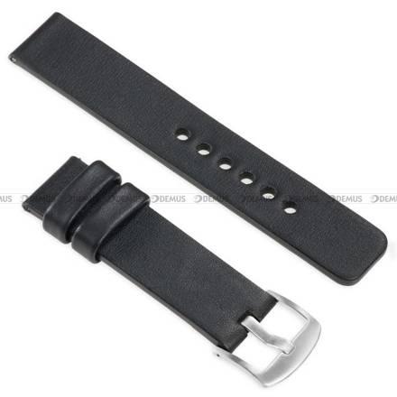 Pasek skórzany do zegarka lub smartwatcha - moVear WQU0S010000SLBM22BK - 22 mm