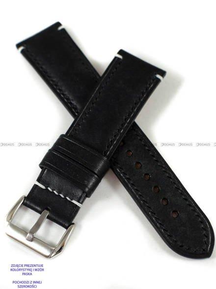 Pasek skórzany ręcznie robiony A. Kucharski Leather - Conceria Il Ponte Maya - black/black 26 mm