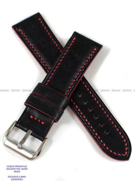 Pasek skórzany ręcznie robiony A. Kucharski Leather - Conceria Il Ponte Maya - black/red 26 mm