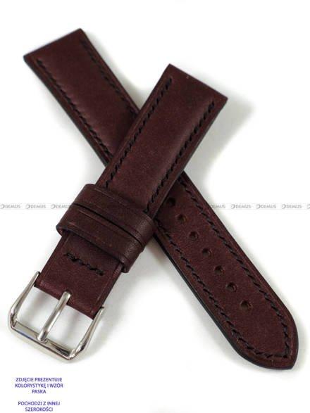 Pasek skórzany ręcznie robiony A. Kucharski Leather - Conceria Puccini Uragano - burgundy/black 28 mm