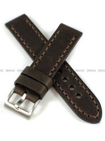 Pasek skórzany ręcznie robiony do zegarka - Tekla PT-HM3-22.2.2 - 22 mm