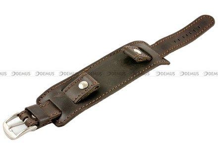 Pasek skórzany z podkładką do zegarka - Horido 0112.02.24S - 24 mm