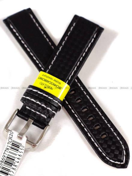 Pasek wodoodporny karbonowy do zegarka - Morellato A01U3586977817 20mm