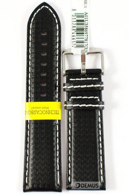Pasek wodoodporny karbonowy do zegarka - Morellato A01U3586977817 24mm
