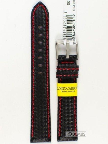 Pasek wodoodporny karbonowy do zegarka - Morellato A01U3586977883 18mm