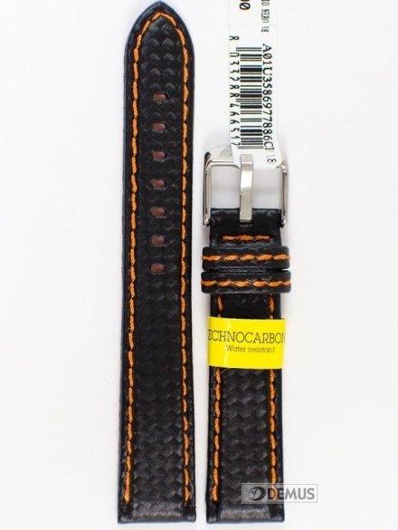 Pasek wodoodporny karbonowy do zegarka - Morellato A01U3586977886 18mm