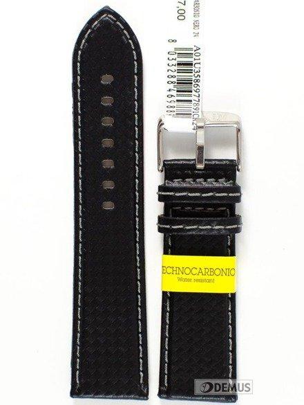 Pasek wodoodporny karbonowy do zegarka - Morellato A01U3586977891 24 mm