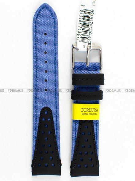 Pasek wodoodporny skórzano-nylonowy do zegarka - Morellato A01X4747110064 - 20 mm