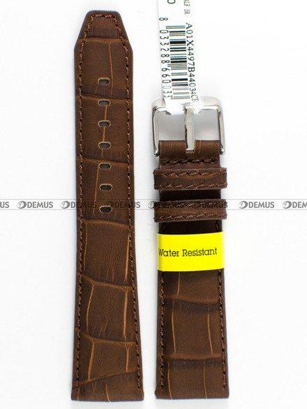 Pasek wodoodporny skórzany do zegarka - Morellato A01X4497B44034 - 20 mm