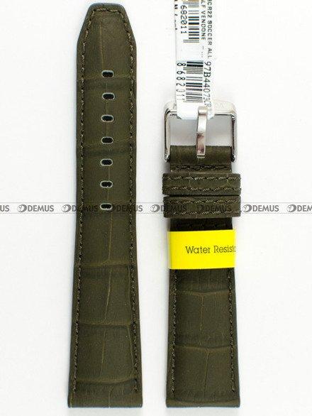 Pasek wodoodporny skórzany do zegarka - Morellato A01X4497B44073 - 20 mm