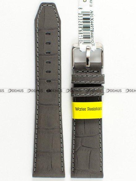 Pasek wodoodporny skórzany do zegarka - Morellato A01X4497B44092 - 18 mm
