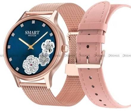 Smartwatch Pacific 18-1-RG-Pink - bransoleta i pasek w zestawie