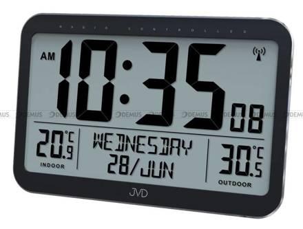 Zegar cyfrowy sterowany radiowo JVD RB9385 - z zewnętrznym czujnikiem temperatury
