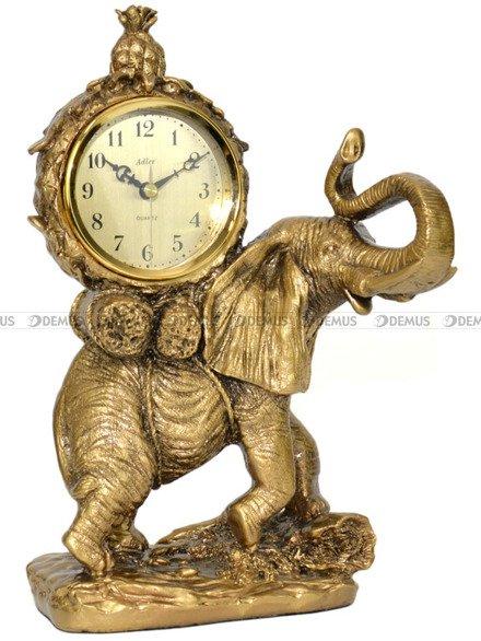 Zegar kominkowy kwarcowy figurka Słoń - Adler 80075G