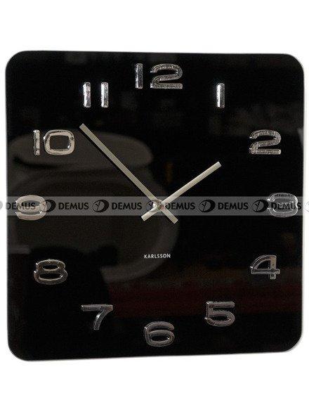 Zegar ścienny KARLSSON KA4398  szklany Vintage kwadrat czarny