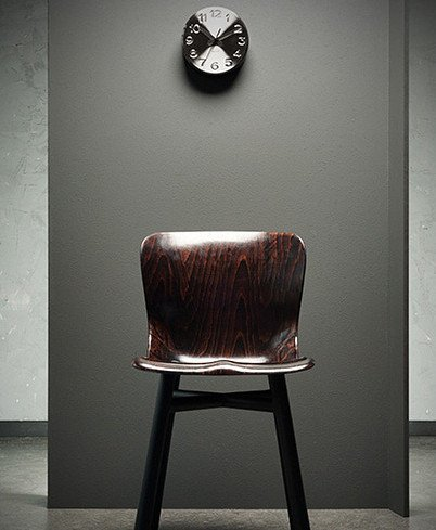 Zegar ścienny Karlsson Bold Engraved Numbers Black KA5477BK