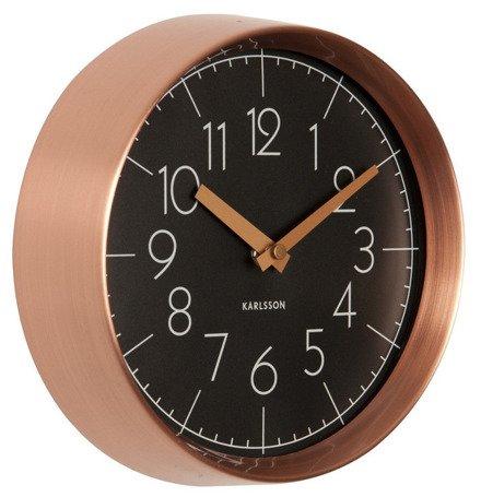 Zegar ścienny Karlsson Convex Black KA5580BK