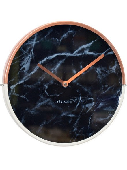 Zegar ścienny Karlsson Marble Delight Cooper Black KA5605BK
