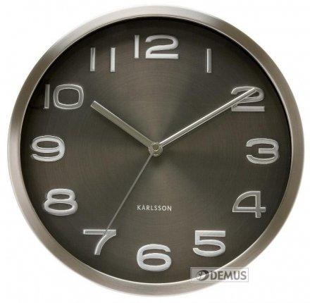 Zegar ścienny Karlsson Maxie Steel Black KA4461