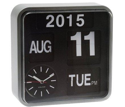 Zegar ścienny Karlsson Mini Flip Silver KA5364SI
