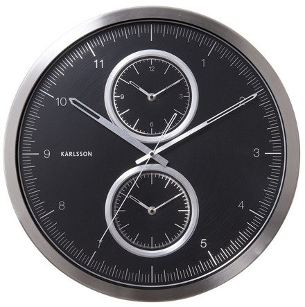 Zegar ścienny Karlsson Multiple Time Black KA5508BK