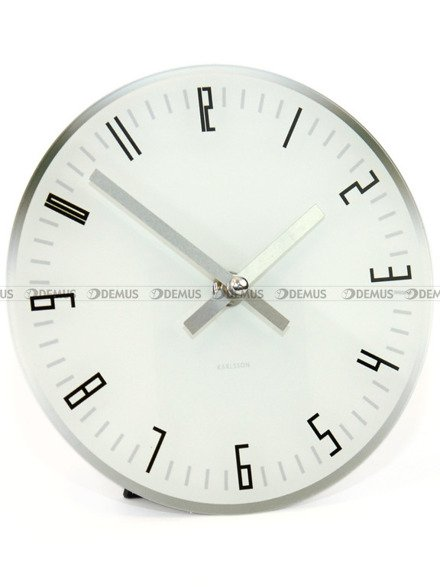 Zegar ścienny Karlsson Slim Index White KA5615WH