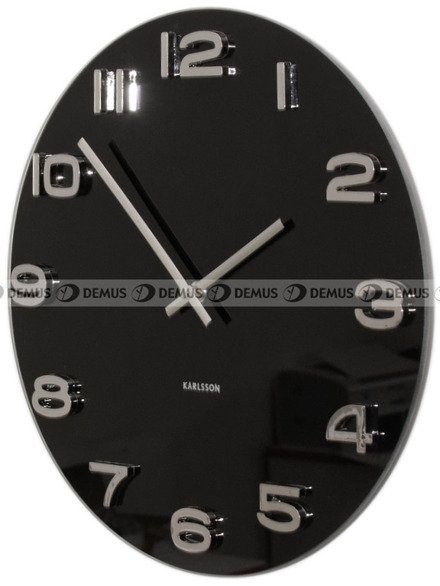 Zegar ścienny Karlsson Vintage Round Black KA4401