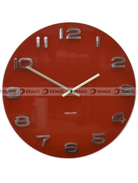 Zegar ścienny Karlsson Vintage Round Red KA4403