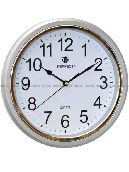 Zegar ścienny Perfect FX-5842AK Srebrny - 28 cm