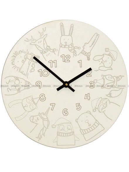 Zegar ścienny dla dzieci MPM E01.4180 30 cm - kredki woskowe w zestawie