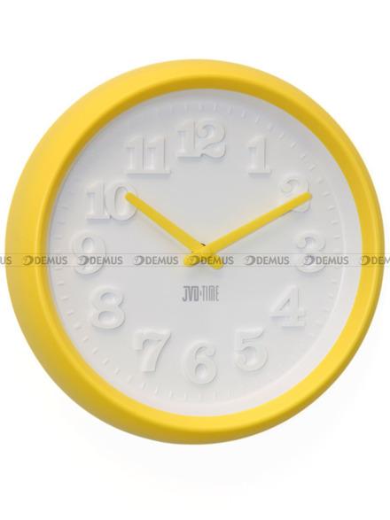 Zegar ścienny plastikowy w kolorze żółtym H101.2