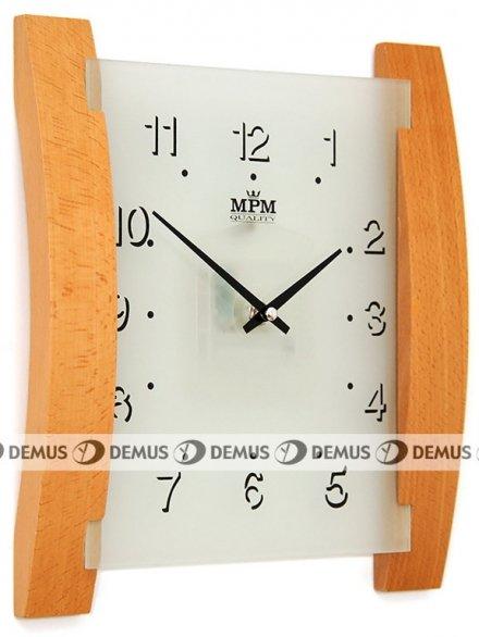 Zegar ścienny szklano-drewniany E07.2704.53