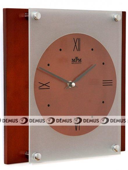 Zegar ścienny szklano-drewniany E07.2706.54