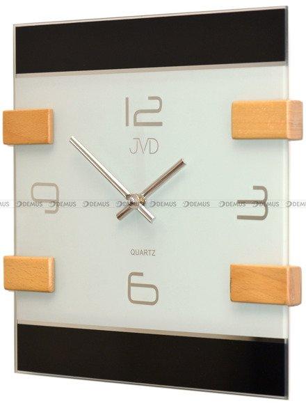 Zegar ścienny szklano-drewniany N20121.68