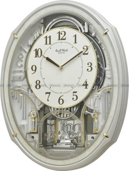 Zegar ścienny z melodiami Rhythm 4MH435WR03 - z ruchomą tarczą