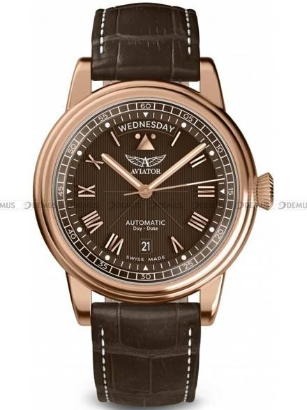 Zegarek Męski Aviator Douglas Day Date 41 V.3.35.2.280.4