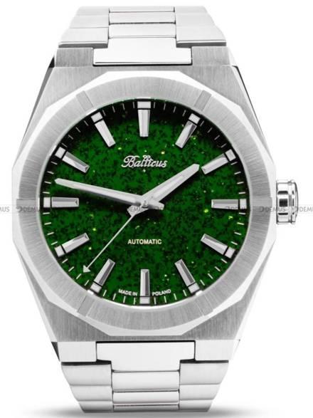 Zegarek Męski Balticus Gwiezdny Pył 40 mm, tarcza zielona, bez datownika