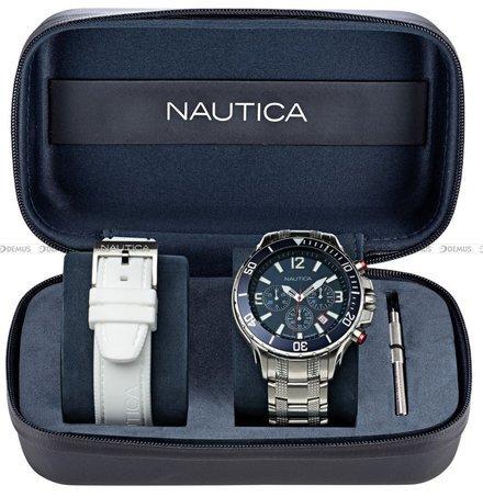 Zegarek Męski Nautica NST Chronograph NAPNSS123 - W zestawie dodatkowy pasek